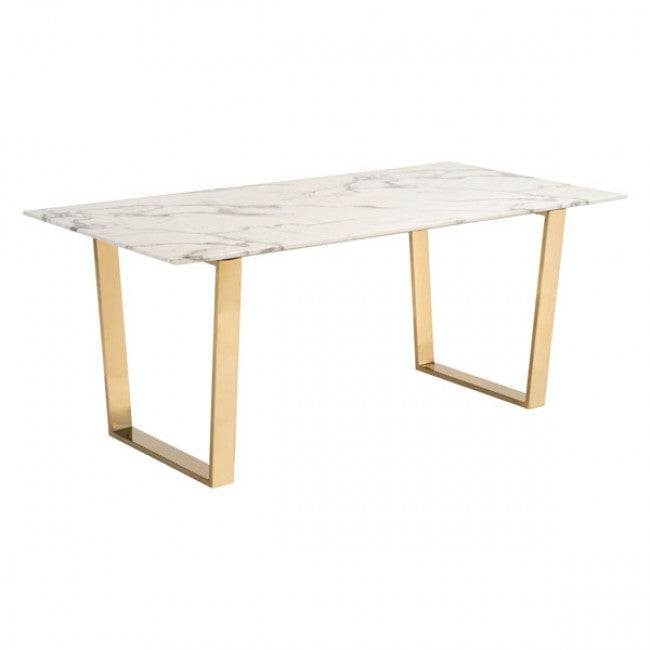 Atlas Dining Table Stone & Gold - Dreamart Gallery