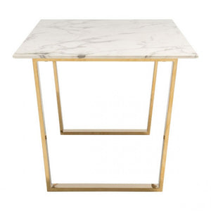 Atlas Dining Table Stone & Gold - Dream art Gallery
