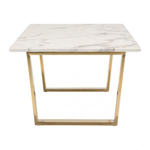 Atlas Coffee Table Stone & Gold - Dreamart Gallery
