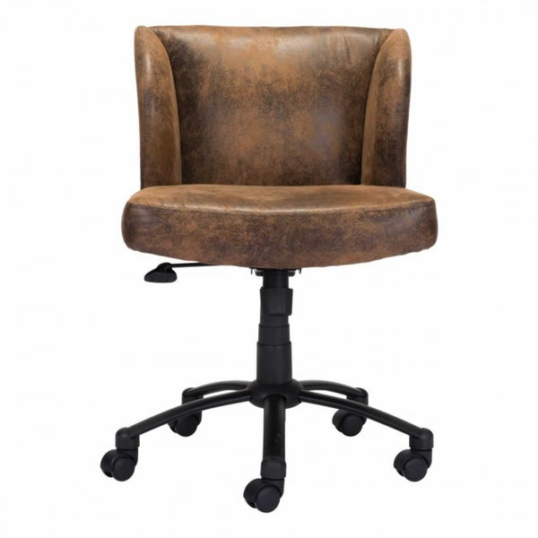 Shaw Office Chair Brown - Dreamart Gallery