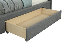 "Load image into Gallery viewer, Emilio 78"" King Platform Bed W/Drawers in Light Grey"
