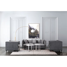 Load image into Gallery viewer, Garland Sofa Gray Velvet - Dream art Gallery