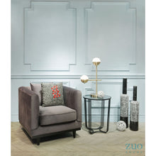 Load image into Gallery viewer, Garland Arm Chair Gray Velvet - Dream art Gallery