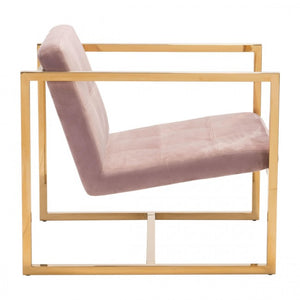 Alt Arm Chair Pink Velvet - Dreamart Gallery