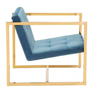 Alt Arm Chair Blue Velvet - Dream art Gallery
