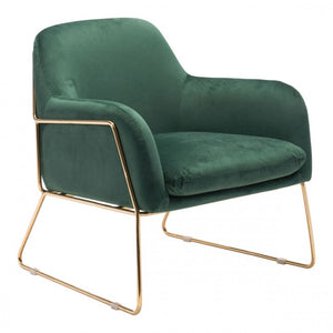 Nadir Arm Chair Green Velvet - Dreamart Gallery