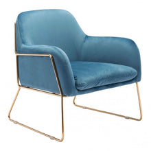 Load image into Gallery viewer, Nadir Arm Chair Blue Velvet - Dream art Gallery