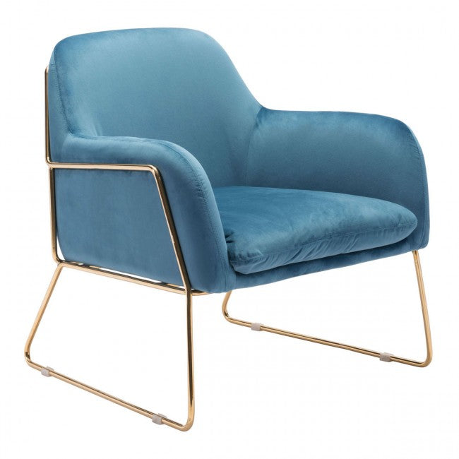 Nadir Arm Chair Blue Velvet - Dream art Gallery