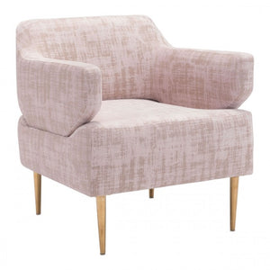 Oasis Arm Chair Pink Velvet - Dreamart Gallery