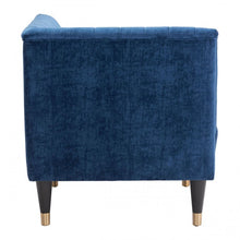 Load image into Gallery viewer, Raven Corner Chair Blue Velvet - Dream art Gallery