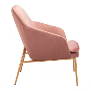 Debonair Arm Chair Pink Velvet - Dreamart Gallery