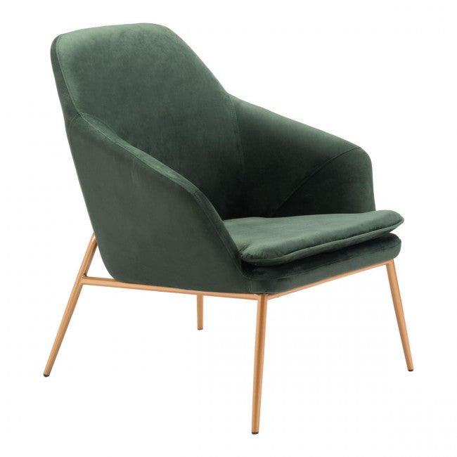 Debonair Arm Chair Green Velvet - Dream art Gallery