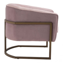Load image into Gallery viewer, Lyric Occasional Chair Pink Velvet - Dream art Gallery