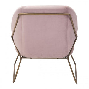 Stanza Arm Chair Pink Velvet