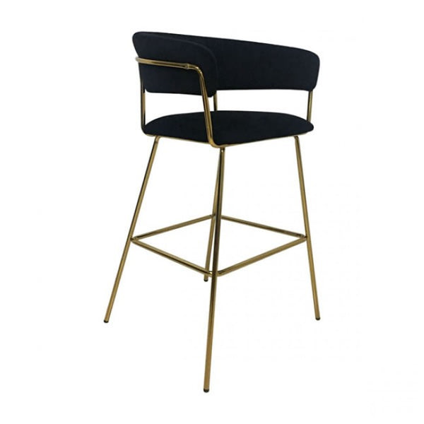 Hanna Bar Chair Black Velvet