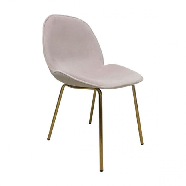 Siena Dining Chair Rose Pink Velvet - Dream art Gallery