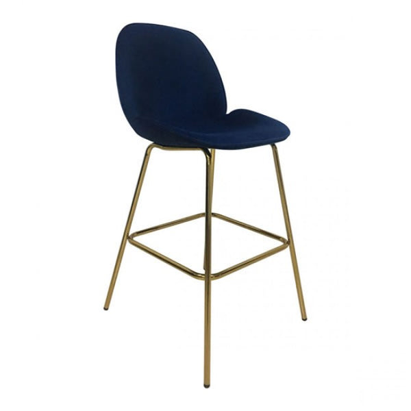 Siena Bar Chair Dark Blue Velvet