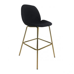 Siena Bar Chair Black Velvet - Dreamart Gallery