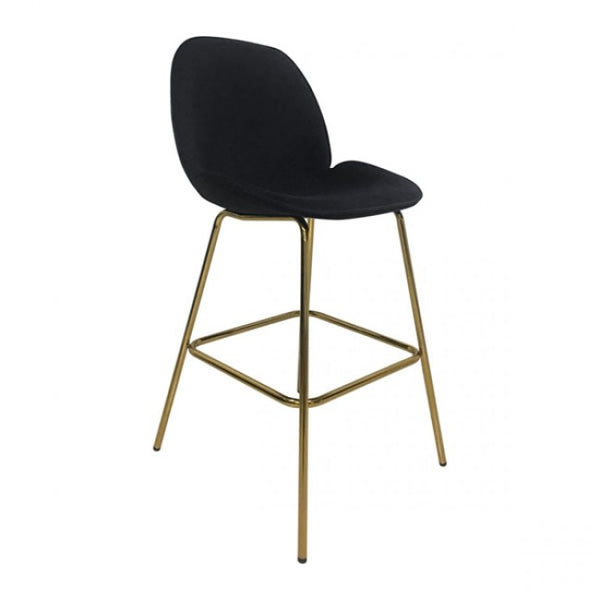 Siena Bar Chair Black Velvet