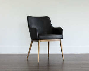 Franklin Dining Armchair - Vintage Black - Dreamart Gallery