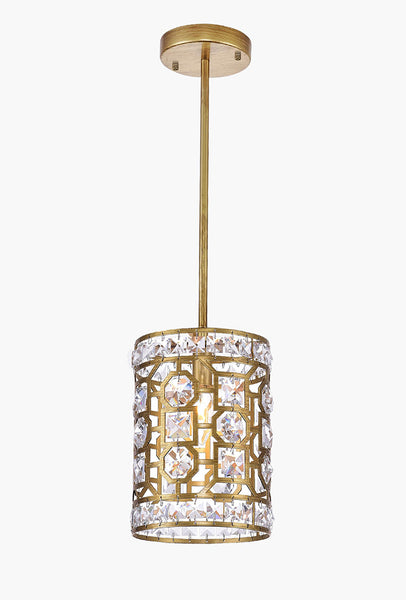 1 LIGHT PENDANT WITH CHAMPAGNE FINISH - Dreamart Gallery