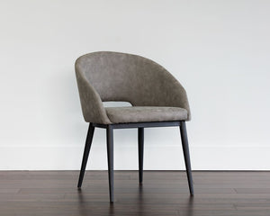 Thatcher Dining Armchair Chair - Black - Antique Grey - Dream art Gallery