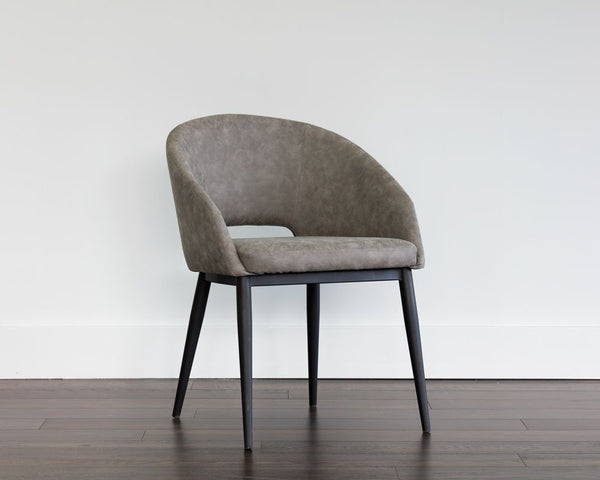 Thatcher Dining Armchair Chair - Black - Antique Grey