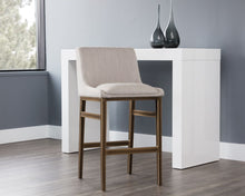 Load image into Gallery viewer, Halden Barstool - Beige Linen - Dream art Gallery