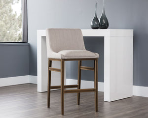Halden Barstool - Beige Linen - Dream art Gallery