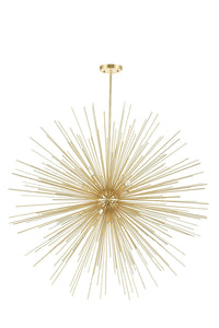 14 LIGHT CHANDELIER WITH GOLD LEAF FINISH - Dream art Gallery