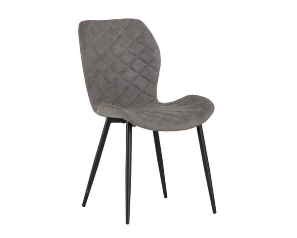 Lyla Dining Chair - Black - Antique Grey