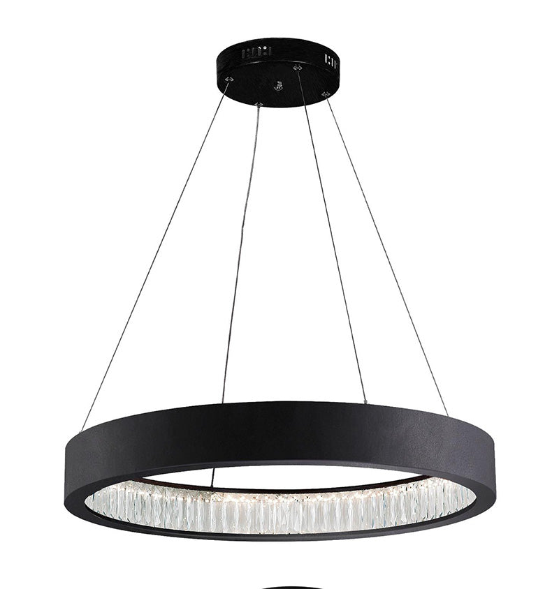 LED CHANDELIER WITH MATTE BLACK FINISH - Dream art Gallery