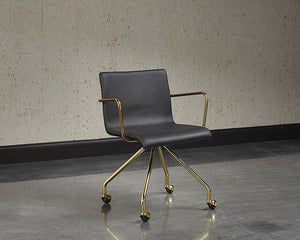 Elijah Office Chair - Black - Dreamart Gallery