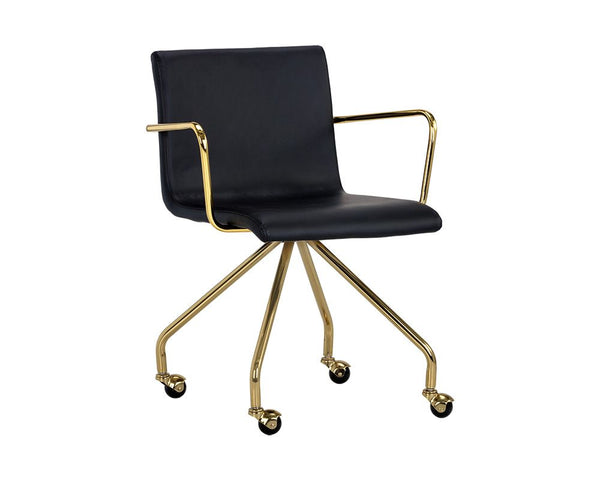 Elijah Office Chair - Black - Dream art Gallery