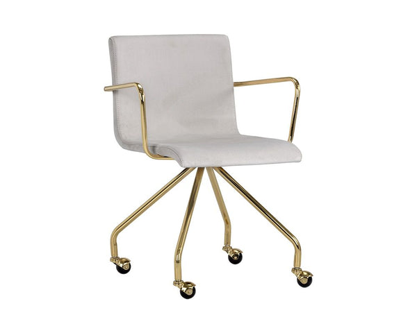Elijah Office Chair - Antonio Linen - Dream art Gallery