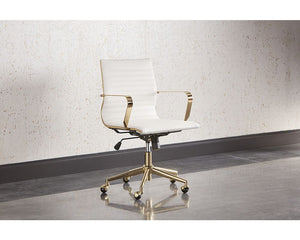 Jessica Office Chair - White - Dream art Gallery