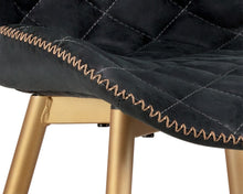 Load image into Gallery viewer, Lyla Dining Chair - Champagne Gold - Antique Black - Dreamart Gallery