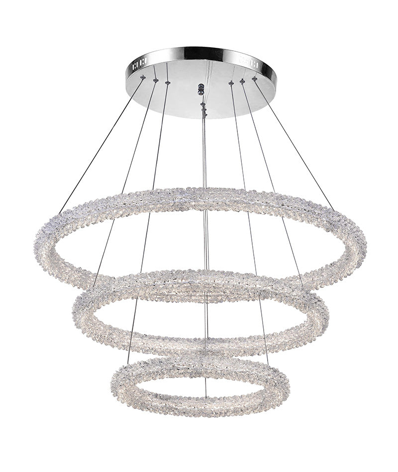 LED CHANDELIER WITH CHROME FINISH - Dream art Gallery