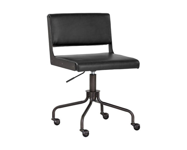 Davis Office Chair - Black - Black - Dream art Gallery