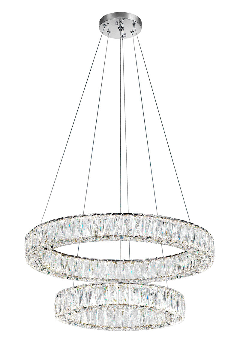 LED CHANDELIER WITH CHROME FINISH - Dreamart Gallery
