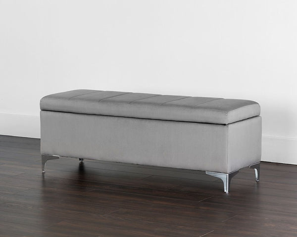 Janet Storage Bench - Antonio Charcoal