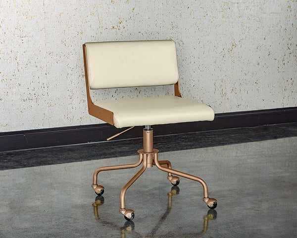 Davis Office Chair - Champagne Gold - Castillo Cream