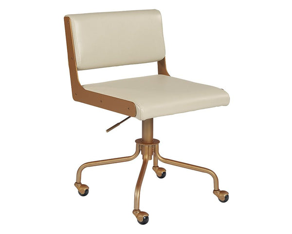 Davis Office Chair - Champagne Gold - Castillo Cream - Dream art Gallery