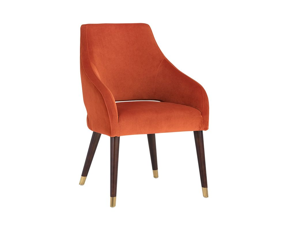 Adelaide Dining Armchair - Autumn Orange