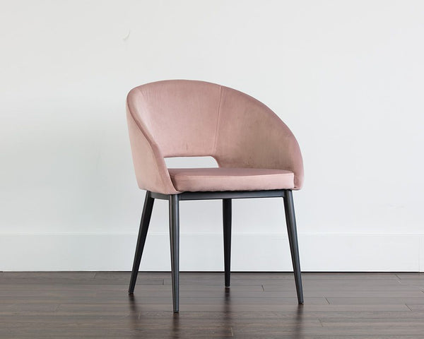 Thatcher Dining Armchair - Black - Blush Purple Sky - Dream art Gallery