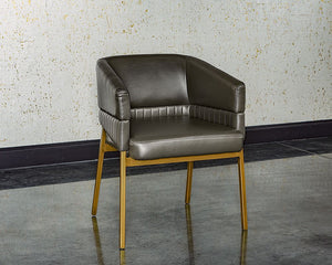 Genval Dining Armchair - Castillo Steel - Dream art Gallery