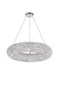 8 LIGHT CHANDELIER WITH CHROME FINISH - Dream art Gallery