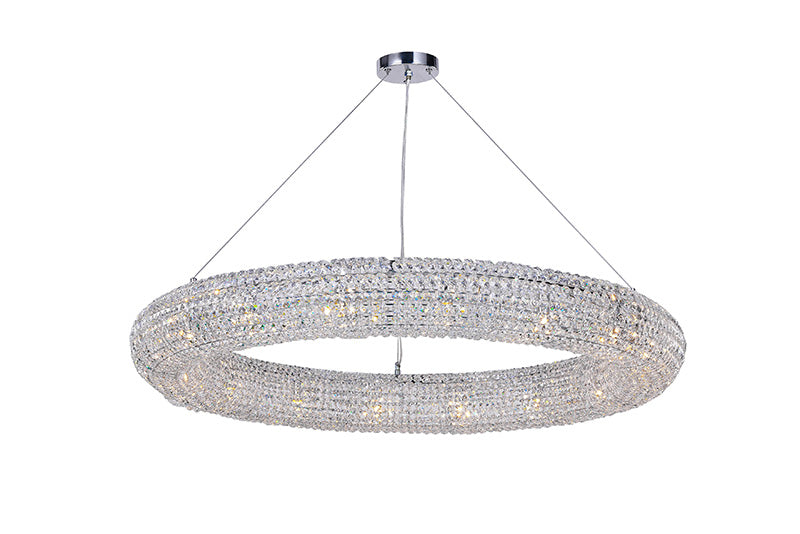 16 LIGHT CHANDELIER WITH CHROME FINISH - Dream art Gallery