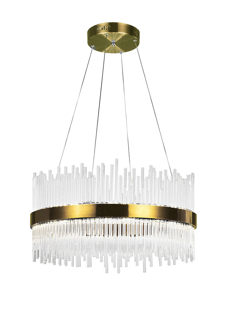 LED CHANDELIER WITH ANTIQUE BRASS FINISH - Dream art Gallery