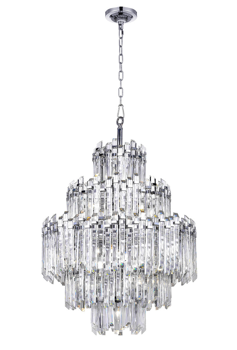 15 LIGHT CHANDELIER WITH CHROME FINISH - Dreamart Gallery